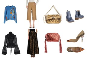 Top Dsquared2, bottom Marni, bag Ras, shoes Manas. Top Dsquared2, skirt Pinko, bag Golden Goose Deluxe Brand, shoes Moschino