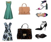 Dress Alberta Ferretti, bag Givenchy, shoes Marc Ellis. Dress 1-One, bag and shoes Dolce&Gabbana.