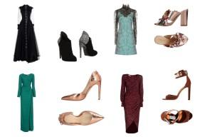 Dress Philosophy di Lorenzo Serafini, shoes Giuseppe Zanotti. Dress Lanvin, shoes Gedebe. Dress Lanvin, shoes Chloe Gosselin. Dress Michael Kors Collection, shoes Jimmy Choo.
