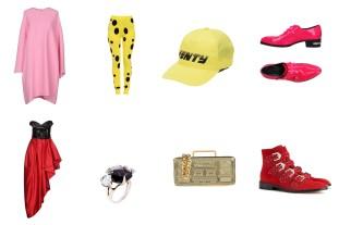 Dress Valentino, bottom Moschino, hat Fenty Puma by Rihanna, shoes Philipp Plein. Dress Moschino, ring Alexis Bittar, bag Moschino, shoes Givenchy.