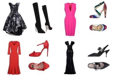 Dress Vivienne Westwood, shoes Rene'Caovilla. Dress Victoria Beckham, shoes Christian Louboutin. Dress Michael Kors Collection, shoes Boutique Moschino. Dress Michael Kors Collection, shoes Miui Miu.