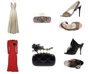 Dress Oscar De La Renta, bah Alexander McQueen, shoes Rene'Caovilla. Dress Dolce&Gabbana, bag Alexander McQueen, shoes N°21.