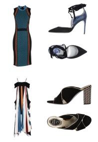Dress Versace, shoes Rene'Caovilla. Dress Chloé, shoes Rene'Caovilla