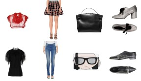 Top N°21, Bag Jil Sanders, Shoes Elvio Zanon. Top John Richmond, Jeans Twin Set, Bag Karl Lagerfeld, Shoes Versace
