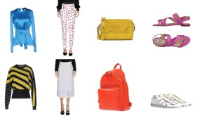 Top Dsquared2, Bag Karl Lagerfeld, Shoes Moschino. Top Jil Sander, Skirt Emilio Pucci, Backpack Anya Hindmarch, Shoes Maison Margiela