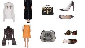 Top Dolce & Gabbana, skirt Mary D'Aloia, shoes Gianvito Rossi. Top Dsquared2, skirt Bottega Veneta, bag Miu Miu, shoes Steve Madden.