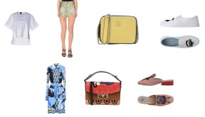 Top Dquared, Bag Tommy Hilfiger, Shoes Chiara Ferragni. Dress Emilio Pucci, bag Paula Cademartori, Shoes Paula Cademartori.