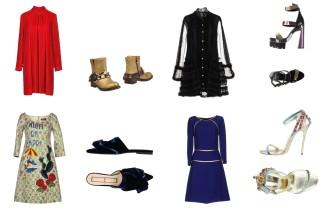 Dress By Bonnie Young, shoes Giancarlo Paoli. Dress Philosophy by Lorenzo Serafini, shoes Versace. Dress Dolce & Gabbana, shoes N°21. Dress Prada, shoes Dsquared2.
