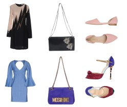 Dress Emilio Pucci, bag Rochas, shoes George J Love. Dress Hervé Léger, bag Moschino, shoes Christian Louboutin.