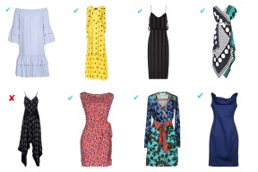 8, Boutique Moschino, Cushnie et Ochs, Diane Von Furstenberg for all the following dresses, blue dress Boutique Moschino.
