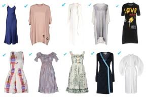 The Row, Toy G., Valentino, MM6 Maison Margiela, Love Moschino, MSGM, Love Moschino, Dolce & Gabbana, Diane Von Furstenberg, Jil Sander.