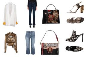 Top Haider Ackermann, bottom 7 for all Mankind, bag Dolce&Gabbana, shoes Lanvin. Top Michael Kors Collection, bottom 8, bag Dolce&Gabbana, shoes Fausto Puglisi.