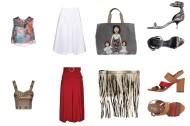 Top Related, skirt 8, bag Dolce&Gabbana, shoes Giuseppe Zanotti. Top Vero Moda Jeans, skirt Jolie by Edward Spiers, bag Michael Kors, shoes Mally.