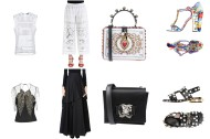 Top Versace, bottom Just Cavalli, bag and shoes Dolce&Gabbana. Top Jenny Packham, skirt Bruno Cucinelli, bag Rochasm shoes Gucci.