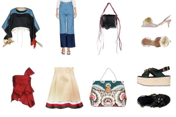 Top Chloé, bottom Stella McCartney, bag Alexander McQueen, shoes Aquazzura. Top Dsquared2, skirt J. W. Anderson, Bag Valentino Garavani, shoes Marni.
