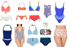 Top Triumph + bottom Banana Moon, Jolie by Edward Spiers, top Banana Moon + bottom Heidi Klum Swim, Paolita, George J. Love, Lisa Marie Fernandez, Pistol Panties, Lisa Marie Fernandez, top Parah + bottom Karla Colletto, Etro.