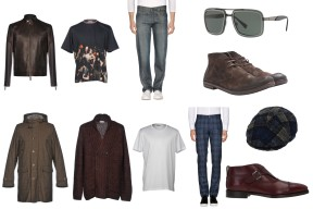 Jacket Prada, T-shirt Dior Homme, Jeans Levi's Engineered, Shades Versace, Shoes Marséll, Coat Fay, Cardigan Dries Van Noten, T-shirt Valentino, Trousers JACOB COHЁN, Hat Tagliatore, Shoes Salvatore Ferragamo.