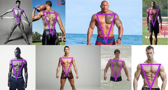 Uomo Fisico A Triangolo Invertito Men Inverted Triangle Body